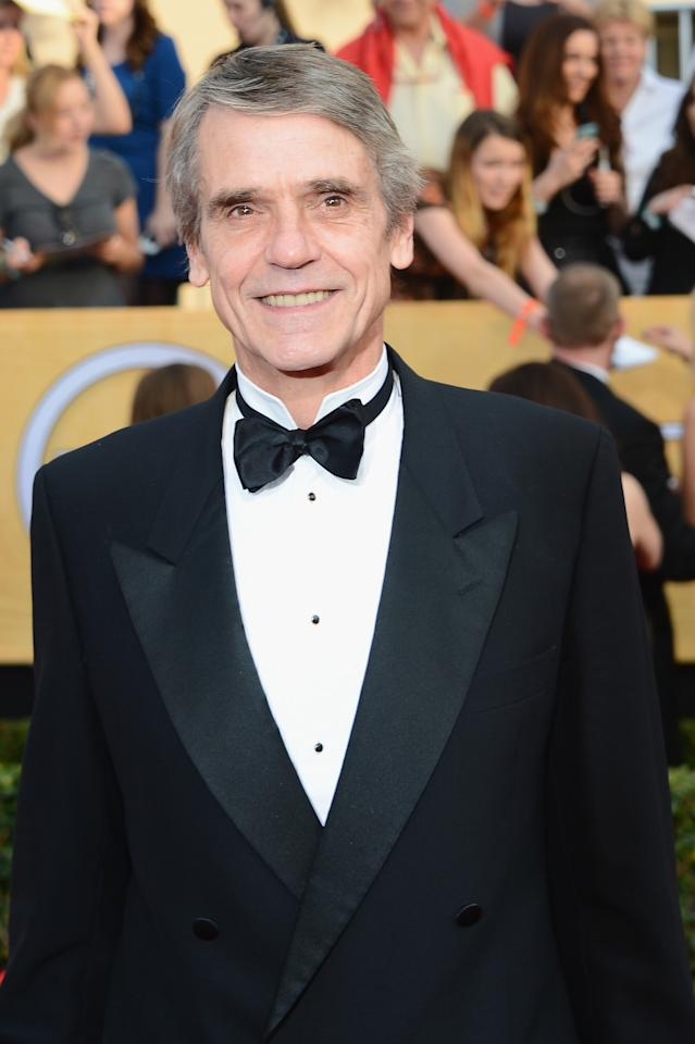 LOS ANGELES, CA - JANUARY 18: Actor Jeremy Irons attends the 20th Annual Screen Actors Guild Awards at The Shrine Auditorium on January 18, 2014 in Los Angeles, California. (Photo by Ethan Miller/Getty Images)