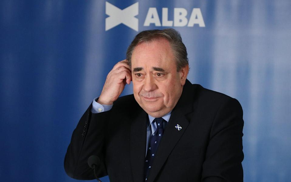 Alex Salmond's new Alba Party is projected not to win a seat - PA