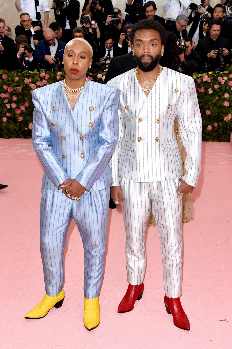 """<h1 class=""""title"""">Lena Waithe and Kerby Jean-Raymond, both in custom Pyer Moss wearing David Yurman jewelry</h1><cite class=""""credit"""">Photo: Getty Images</cite>"""