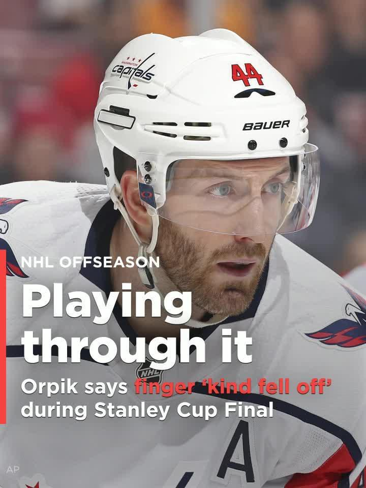 Brooks Orpik says finger  kinda fell off  during Stanley Cup Final - but he  didn t miss a game  Video  e56132eebe97