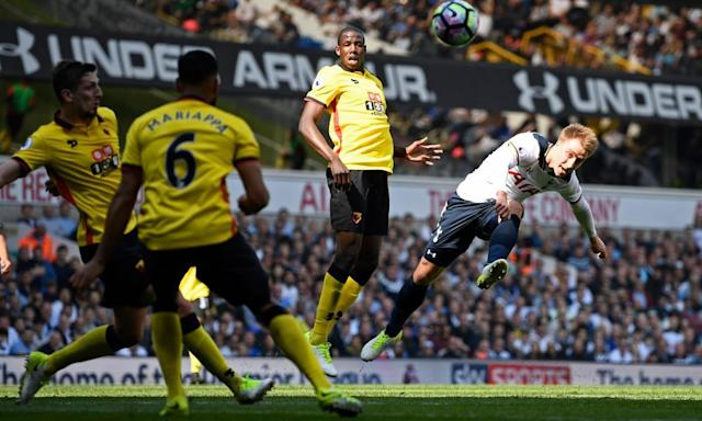 "<span class=""element-image__caption"">Tottenham Hotspur's Christian Eriksen is joint-top of this season's Premier League assists chart.</span> <span class=""element-image__credit"">Photograph: Dylan Martinez/Reuters</span>"