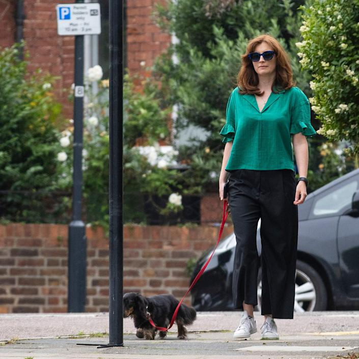 Martha Hancock was pictured out and about on Sunday morning - Jamie Lorriman