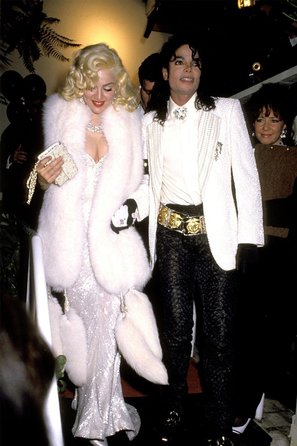 """<p>Madonna confused the world when she brought Michael Jackson as her date to the 1991 Academy Awards. The two attended the after parties together, and were even seen out on a dinner date a few days later. At the time, people were convinced it was <a href=""""https://www.buzzfeed.com/briangalindo/remember-when-madonna-michael-jackson-dated?utm_term=.vie1kLQaZ#.mv1NR1vQD"""" rel=""""nofollow noopener"""" target=""""_blank"""" data-ylk=""""slk:a publicity stunt"""" class=""""link rapid-noclick-resp"""">a publicity stunt</a> for Madonna's documentary, """"Truth or Dare."""" But the Material Girl certainly considered it a date, and even <a href=""""https://www.instagram.com/p/Bf6ipX1hmxl/?utm_source=ig_embed"""" rel=""""nofollow noopener"""" target=""""_blank"""" data-ylk=""""slk:posted a throwback pic on her Instagram"""" class=""""link rapid-noclick-resp"""">posted a throwback pic on her Instagram</a> recently.</p>"""