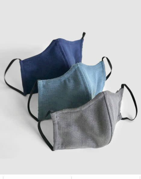 "These 100% soft brushed cotton or cotton blend masks are washable and include an interior pocket for optional use of filters. There's also a bendable wire piece to make them fit snug to your nose. For every pack of masks purchased, N&uuml;age donates one mask to relief efforts.<br> <strong><a href=""https://nuagemasks4all.com/products/masks4all-facemask-3-pack"" rel=""nofollow noopener"" target=""_blank"" data-ylk=""slk:Get a N&uuml;age Designs 3-pack of face masks for $30"" class=""link rapid-noclick-resp"">Get a N&uuml;age Designs 3-pack of face masks for $30</a></strong>"