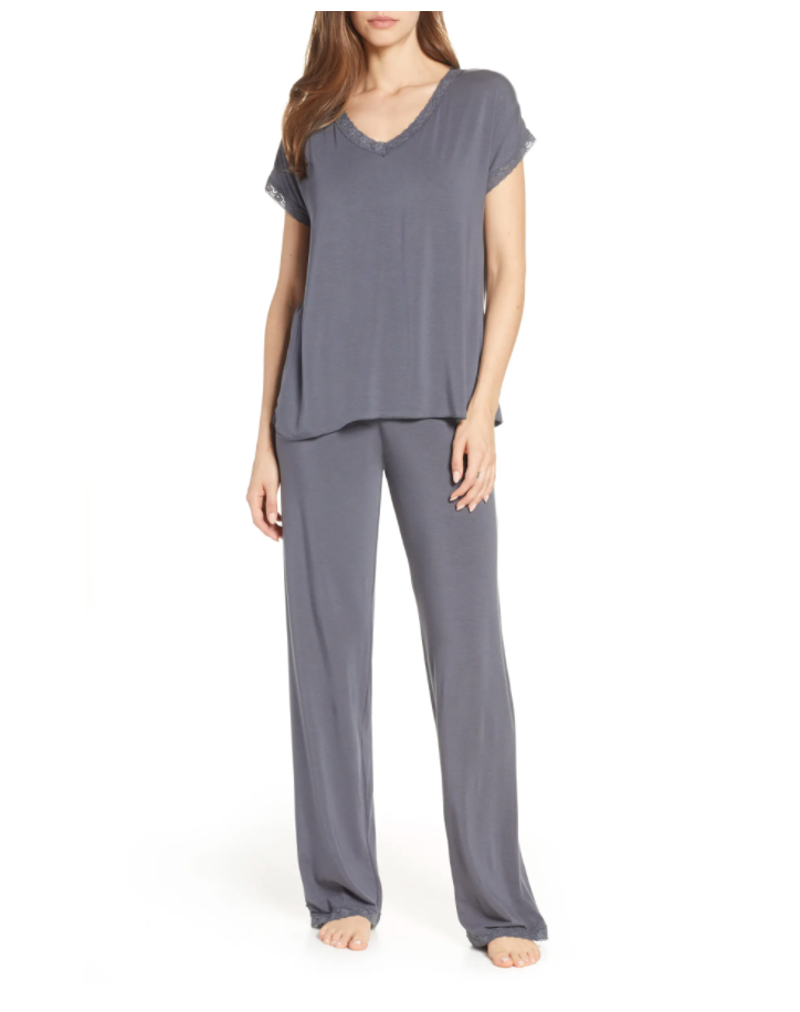 """<br><br><strong>BAREFOOT DREAMS®</strong> Luxe Jersey Pajamas, $, available at <a href=""""https://go.skimresources.com/?id=30283X879131&url=https%3A%2F%2Fwww.nordstrom.com%2Fs%2Fbarefoot-dreams-luxe-jersey-pajamas%2F5238513"""" rel=""""nofollow noopener"""" target=""""_blank"""" data-ylk=""""slk:Nordstrom"""" class=""""link rapid-noclick-resp"""">Nordstrom</a>"""