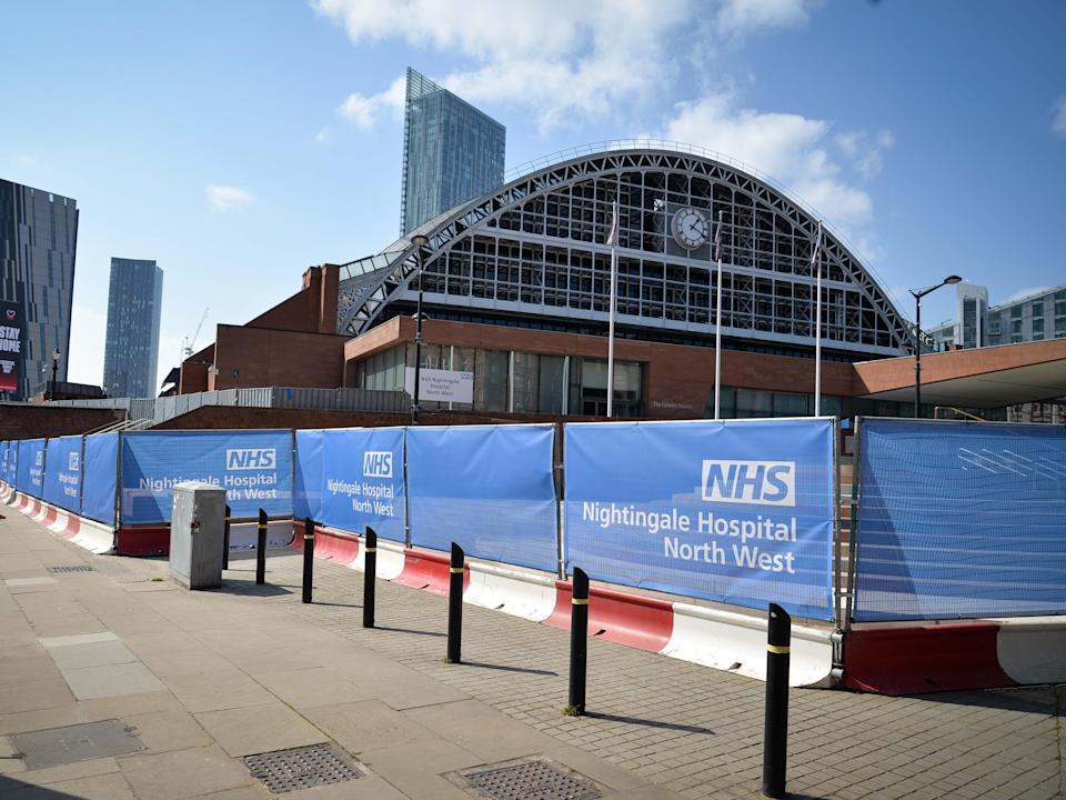 The Manchester Central conference centre is preparing to open for patients (PA)