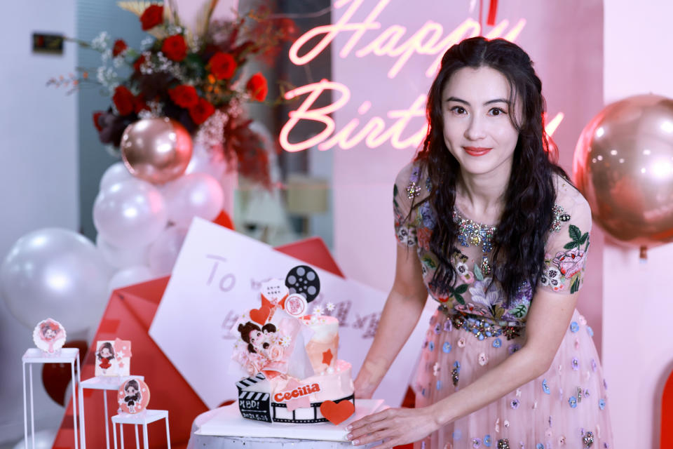 SHANGHAI, CHINA - MAY 24: Actress Cecilia Cheung attends her 41st birthday party on May 24, 2021 in Shanghai, China. (Photo by VCG/VCG via Getty Images)