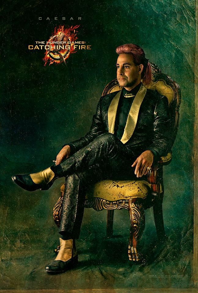 "Stanley Tucci as Caesar Flickerman in the final Capitol Portrait for ""The Hunger Games: Catching Fire"" - 2013"