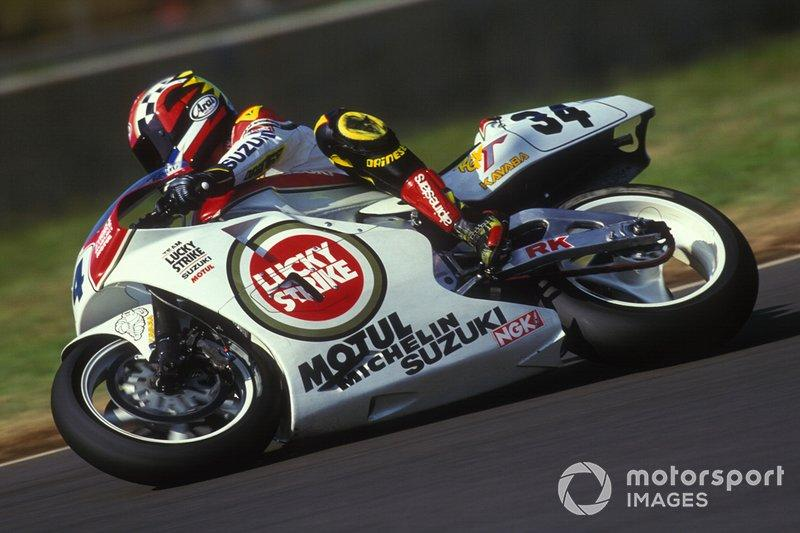 """Suzuki Lucky Strike (1993)<span class=""""copyright"""">Gold and Goose / Motorsport Images</span>"""