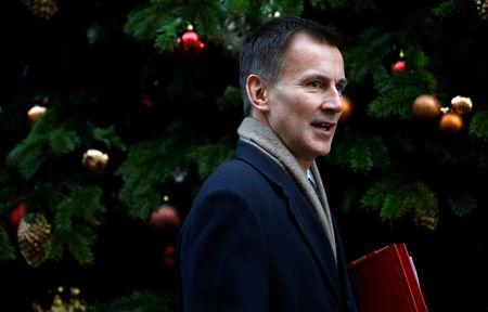 Britain's Secretary of State for Health, Jeremy Hunt arrives in Downing Street, London, Britain, December 4, 2018. REUTERS/Henry Nicholls
