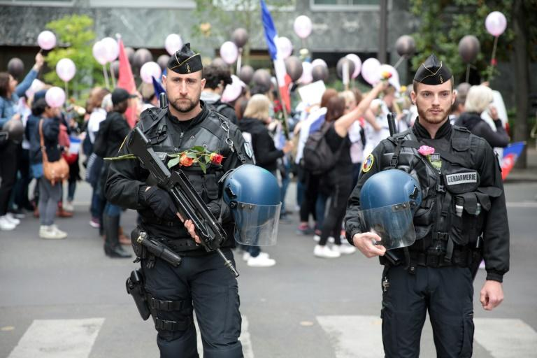 Around 50,000 police and 7,000 soldiers will be deployed to protect voters in France's presidential election, with the contingent boosted in Paris after the shooting there