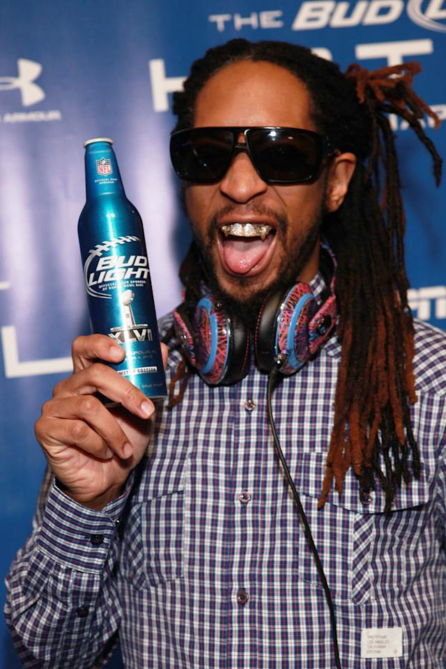 Lil Jon arrives at the Bud Light Hotel concert in Indianapolis.