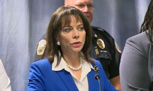 PHOTO: Miami-Dade State Attorney Katherine Fernandez Rundle speaks at a press conference on Aug. 7, 2019, about Homestead Police officer Lester Brown who has been charged with felony battery and official misconduct for pushing an inmate into a wall. (WPLG)