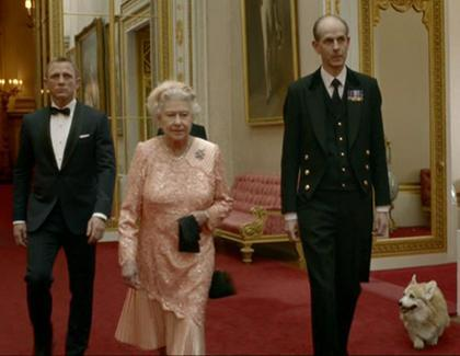 Daniel Craig and Queen Elizabeth II appear in a video as part of the Opening Ceremony.