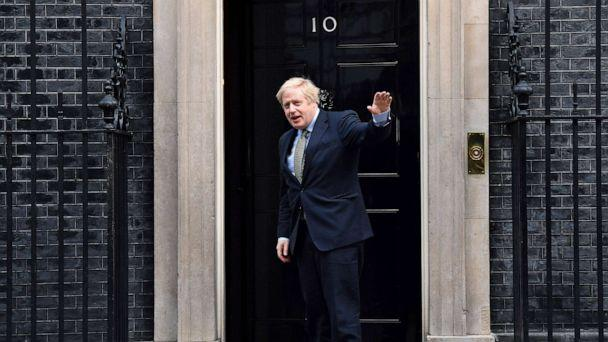 PHOTO: Britain's Prime Minister and Conservative Party leader Boris Johnson arrives at 10 Downing Street in London on Dec. 13, 2019, following an audience with Queen Elizabeth II, where she invited him to become Prime Minister and form a new government. (Ben Stansall/AFP via Getty Images)