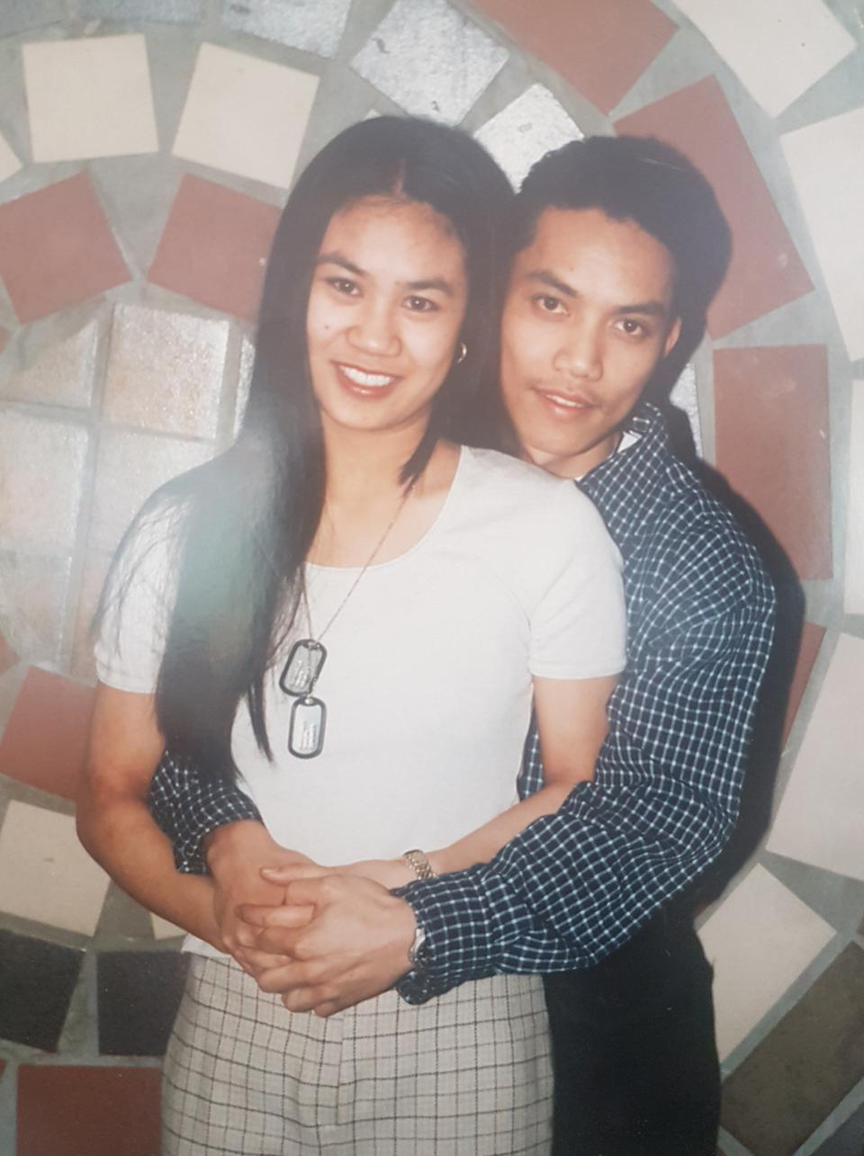 Michelle and David's first picture together in 1993. (PA Real Life/Collect)