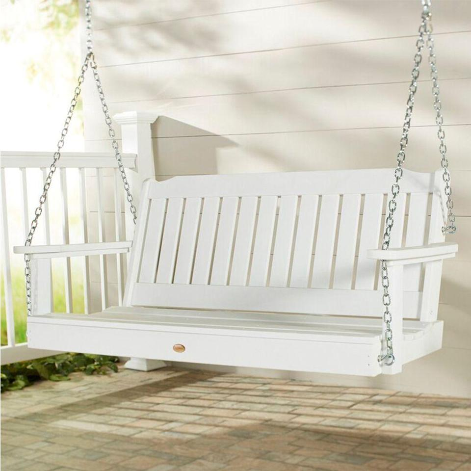 """<p><strong>Three Posts</strong></p><p>wayfair.com</p><p><strong>$409.16</strong></p><p><a href=""""https://go.redirectingat.com?id=74968X1596630&url=https%3A%2F%2Fwww.wayfair.com%2Foutdoor%2Fpdp%2Fthree-posts-amelia-porch-swing-thre5496.html&sref=https%3A%2F%2Fwww.countryliving.com%2Fhome-design%2Fdecorating-ideas%2Fg32815195%2Fbest-porch-swings%2F"""" rel=""""nofollow noopener"""" target=""""_blank"""" data-ylk=""""slk:Shop Now"""" class=""""link rapid-noclick-resp"""">Shop Now</a></p><p>This clean and classic porch swing comes in two sizes, both of which can accommodate multiple friends, and offers a selection of 12 color options. </p><p>Adorn it with a blanket and cushions to enhance your existing outdoor decor, or opt to keep it plain and simple (reviewers claim that it's comfortable as-is!). </p>"""
