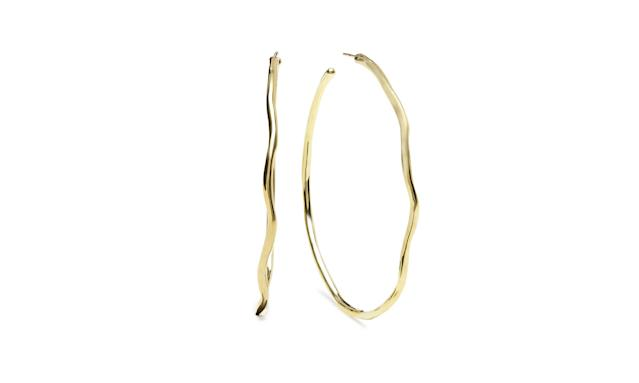"Ippolita Classico Squiggle Hoops, $1,795, <a href=""https://olivela.com/products/ippolita-classicosquigglehoops-15793"" rel=""nofollow noopener"" target=""_blank"" data-ylk=""slk:olivela.com"" class=""link rapid-noclick-resp"">olivela.com</a> (Photo: Courtesy of Olivela)"
