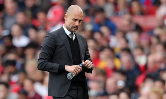 "<span class=""element-image__caption"">Pep Guardiola believes Manchester City were 'much the better team' when they lost to Chelsea at the Etihad.</span> <span class=""element-image__credit"">Photograph: BPI/REX/Shutterstock</span>"