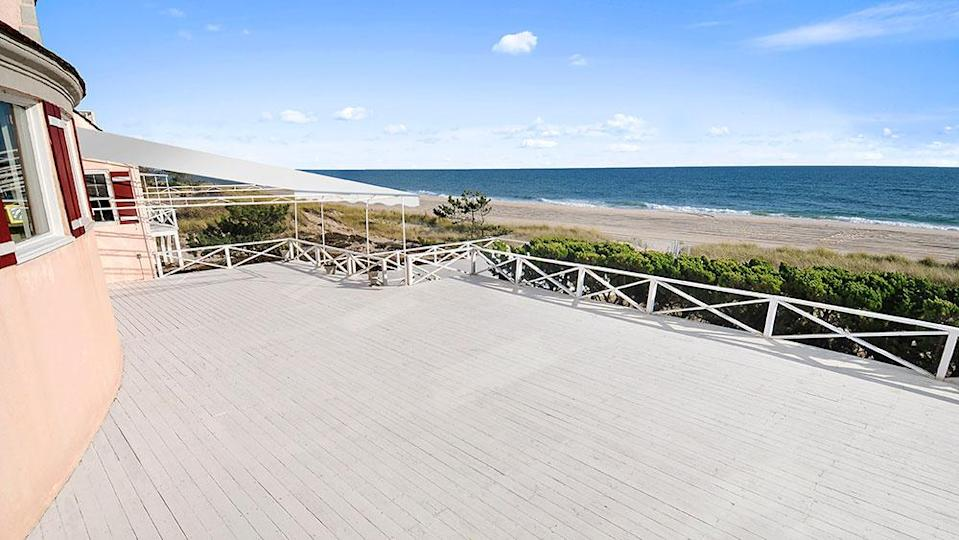 The deck, which looks out onto the ocean. - Credit: Photo: Courtesy of The Corcoran Group