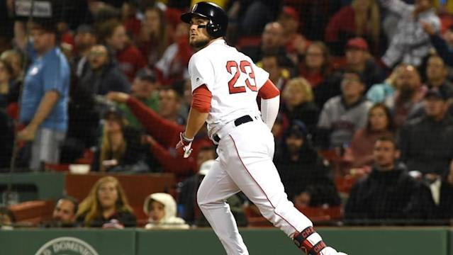 Michael Chavis snapped a home run streak in style Thursday night -- thanks to some timely encouragement from his manager.