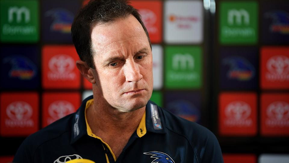 Don Pyke, pictured here at a press conference in 2018.
