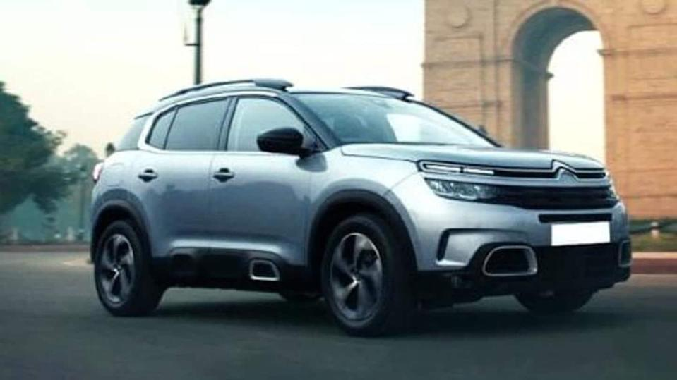 Citroen C3 Aircross compact SUV spotted testing; design details revealed