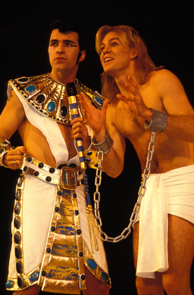 UNITED KINGDOM - JANUARY 01: Photo of Jason DONOVAN; Jason in 'Joseph & His Amazing Technicolor Dreamcoat' (Photo by Mick Hutson/Redferns)