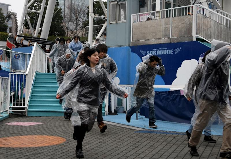 It was the first evacuation drill in Tokyo (AFP Photo/Toshifumi KITAMURA)