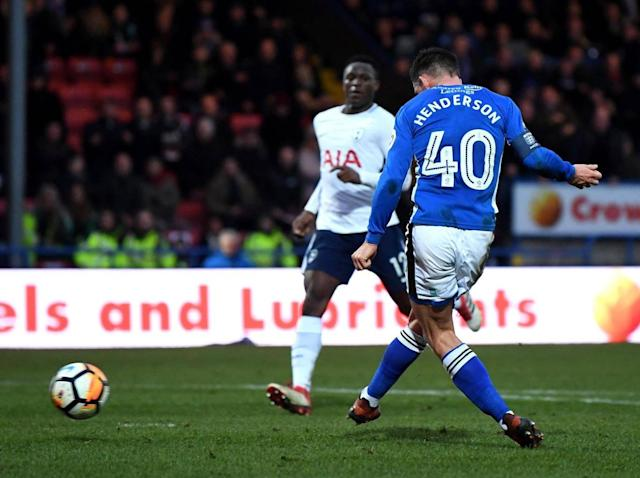 Steve Davies scores dramatic last-gasp equaliser against Tottenham to earn Rochdale FA Cup replay