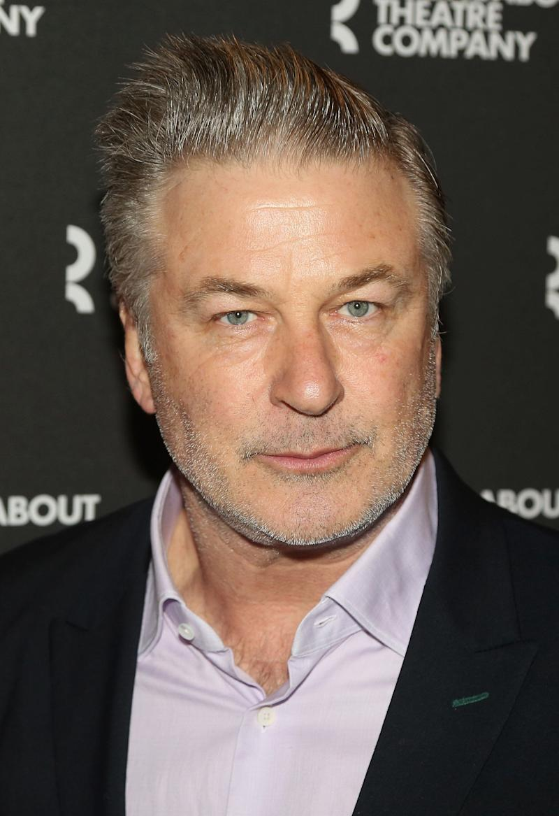 """NEW YORK, NY - MARCH 14: Alec Baldwin poses at the opening night of The Roundabout Theatre Company's production of """"Kiss Me Kate"""" on Broadway at The Studio 54 Theater on March 14, 2019 in New York City. (Photo by Bruce Glikas/WireImage)"""