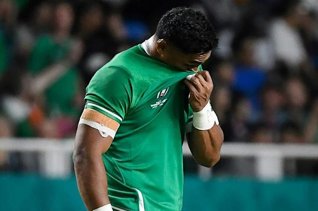 Bundee Aki received a boost following his disappointing World Cup signing a three year extension to his present contract with the IRFU and his province Connacht (AFP Photo/CHRISTOPHE SIMON)