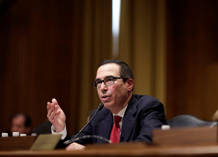 Steven Mnuchin testifies before a Senate Finance Committee confirmation hearing