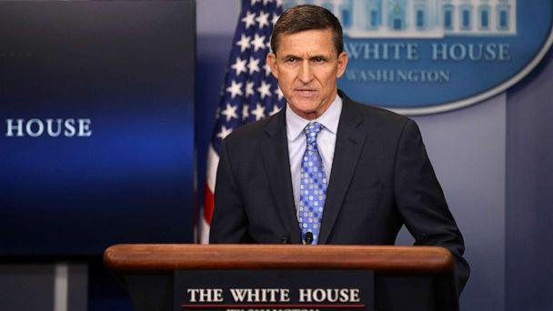 PHOTO: National security adviser General Michael Flynn delivers a statement daily briefing at the White House in Washington, Feb. 1, 2017. (Carlos Barria/Reuters, FILE)