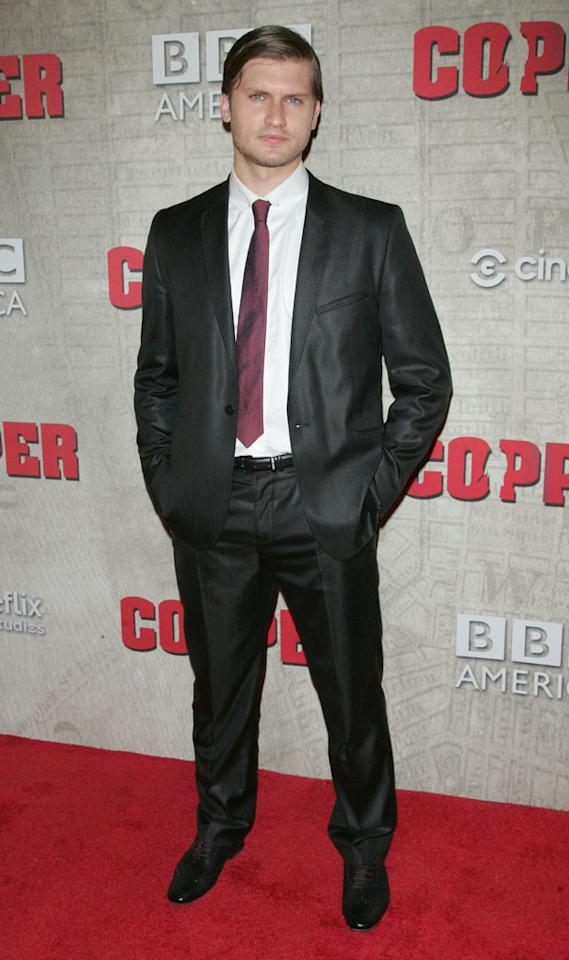 """Tom Weston-Jones attends the """"Copper"""" premiere at The Museum of Modern Art on August 15, 2012 in New York City."""