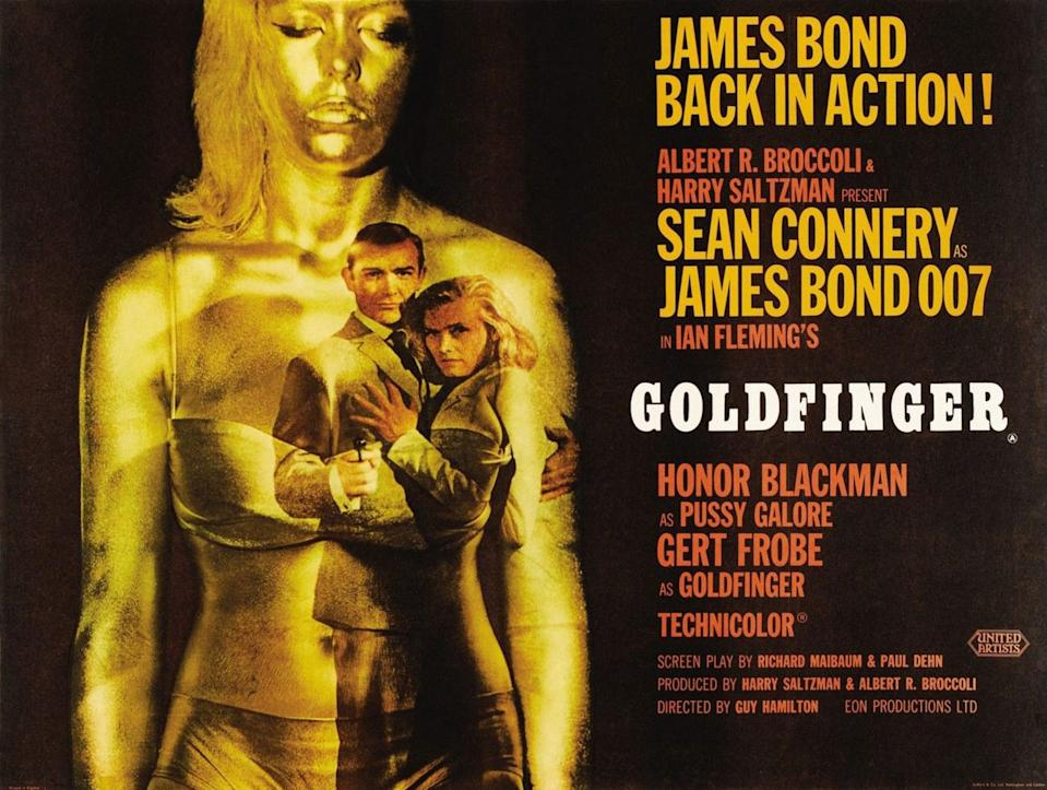 Long considered to be the gold standard for Bond films (pun intended), Connery's third 007 film cemented the franchise's template forever, with its tricked out Aston Martin, Shirley Bassey song, memorable titles, and of course, the gold-painted Bond girl. (Eon/MGM)