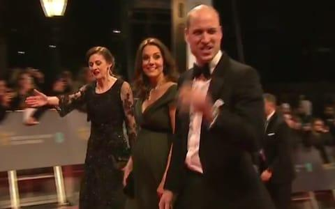 The Duke and Duchess of Cambridge arriving - Credit: Bafta