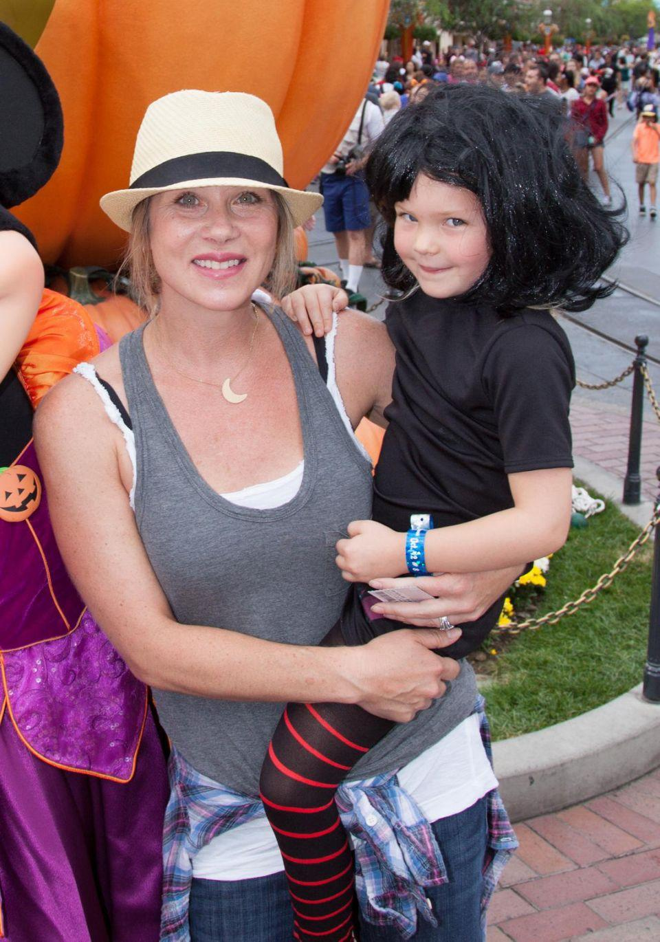She fears her daughter may carry the BRCA1 gene too. They are here together at Halloween in 2015. Source: Getty
