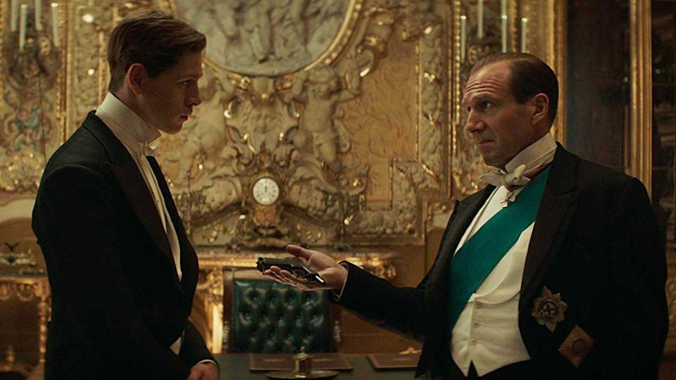 <p>The pseudo-sequel/spin-off of the <em>Kingsman</em> series sees some of the worst tyrants in history gather together to plot a deadly war... so now it's up to one man (Ralph Fiennes) and his protégé (Harris Dickinson) to save the human race. Yeah, no pressure.</p>