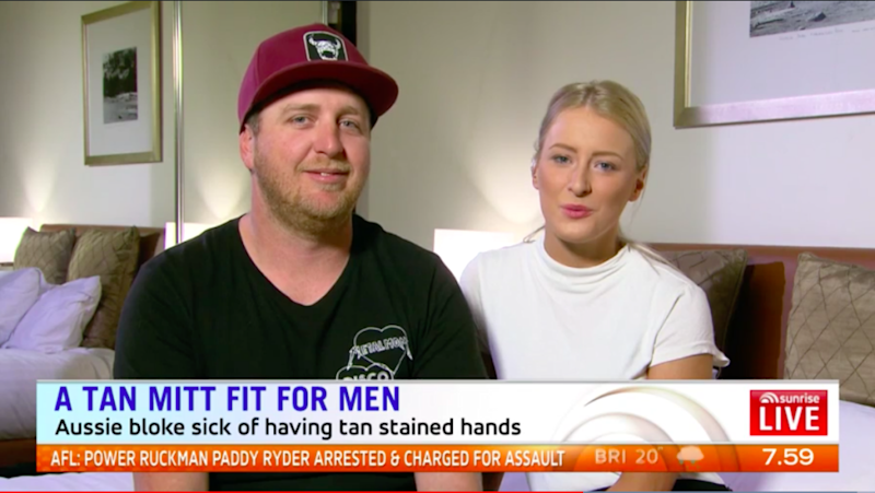 Brenton appeared on Sunrise with his girlfriend Shannon to talk about the struggle. Photo: Sunrise