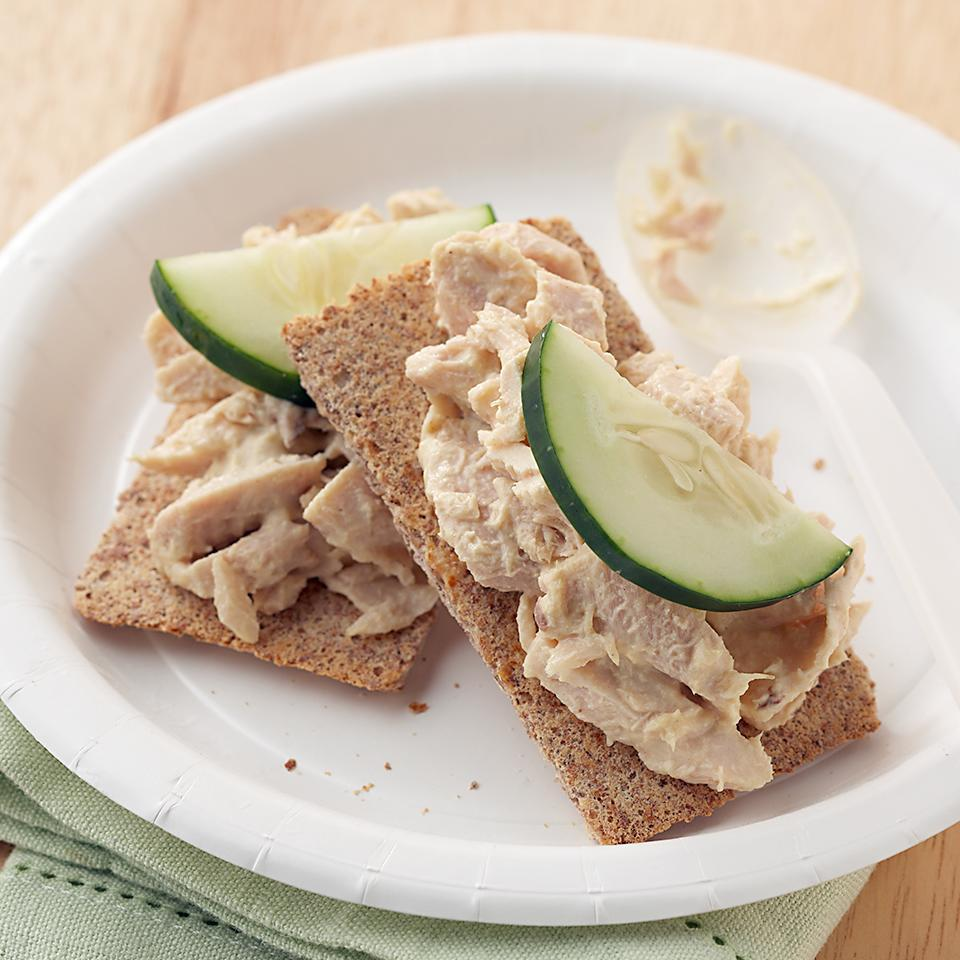 <p>Tuna salad isn't just for lunch! This satisfying snack is packed with heart healthy omega-3 fatty acids, and can be enjoyed any time of day.</p>