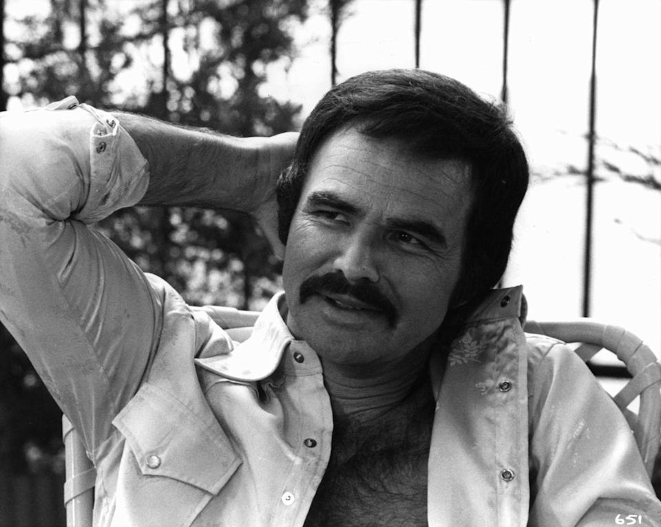 <p>Burt Reynolds defined the macho, rugged masculinity of '80s film and TV heartthrobs thanks to his signature bold mustache.</p>