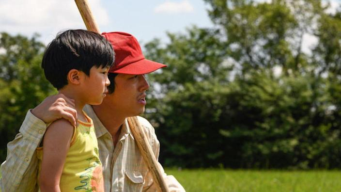 """<p><em>Minari </em>continues the post-<em>Walking Dead </em>career rise for Steven Yeun, who leads an impressive cast here as a father of a Korean-American family looking to make their way after moving to Arkansas from California. Director Lee Isaac Chung based the movie on his own life, and crafted it with a slow-burn story that gets into the mind of every character in the family along the way. This is a slow-buring, tender movie that has characters who will stick with you. One particular breakout? Alan Kim, who plays the family's adorable son (and is <a href=""""https://www.instagram.com/official.alankim/?hl=en"""" rel=""""nofollow noopener"""" target=""""_blank"""" data-ylk=""""slk:a treasure on Instagram"""" class=""""link rapid-noclick-resp"""">a treasure on Instagram</a>)</p><p><a class=""""link rapid-noclick-resp"""" href=""""https://www.amazon.com/Minari-Steven-Yeun/dp/B08WLZ3XMH/ref=sr_1_1?dchild=1&keywords=minari&qid=1620676534&s=instant-video&sr=1-1&tag=syn-yahoo-20&ascsubtag=%5Bartid%7C2139.g.35256582%5Bsrc%7Cyahoo-us"""" rel=""""nofollow noopener"""" target=""""_blank"""" data-ylk=""""slk:Stream It Here"""">Stream It Here</a></p>"""