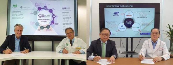 Front: Prof. Thomas Pieber, Prof. Peter Schemmer, Mr. Robert Lobnig. Back: Prof. Pierce Chow (National Cancer Center Singapore and Singapore General Hospital), Dr. Young Yung. (Source: Dr. Young Yun)