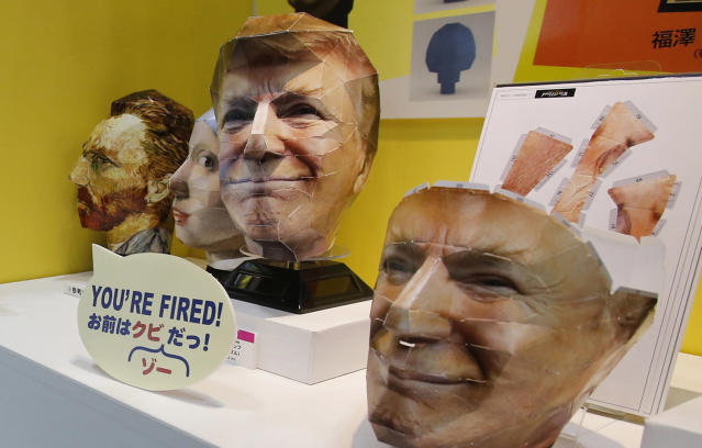 <p>A 3D face puzzle depicting U.S. President Donald Trump made by Japan's toy maker Tenyo is showcased at the International Tokyo toy show in Tokyo, June 2, 2017. (Photo: Shuji Kajiyama/AP) </p>