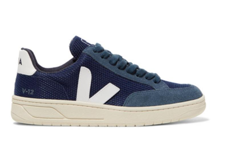 V-12 leather-trimmed mesh and suede sneaker. (Photo: Net-A-Porter)