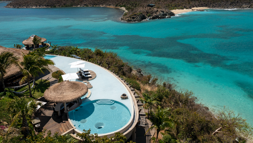 The pool deck at the Point Estate. - Credit: Courtesy Virgin Limited Edition