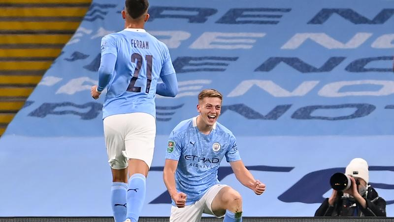 Liam Delap 'can't ask for much more' after scoring on Manchester City debut
