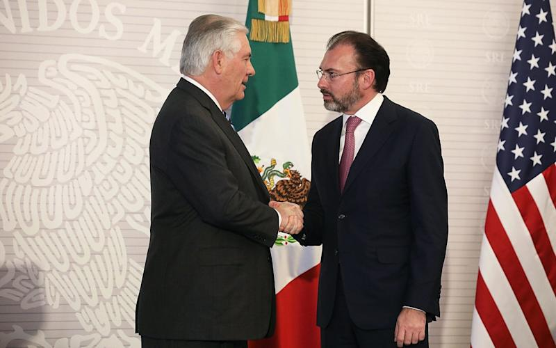 Tillerson and Videgaray - Credit: Bloomberg
