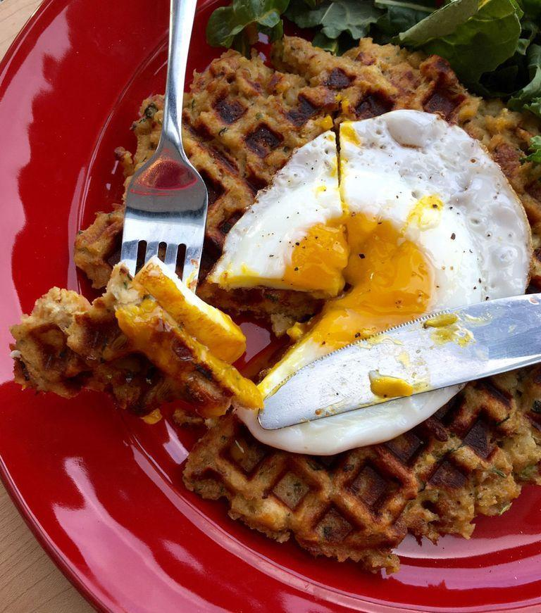 """<p>It's stuffing for breakfast! Our dream come true.</p><p><em><a href=""""https://www.goodhousekeeping.com/holidays/thanksgiving-ideas/a35466/make-waffles-from-leftover-stuffing/"""" rel=""""nofollow noopener"""" target=""""_blank"""" data-ylk=""""slk:Get the recipe for Leftover Stuffing Waffles »"""" class=""""link rapid-noclick-resp"""">Get the recipe for Leftover Stuffing Waffles »</a></em></p><p><strong>RELATED: </strong><a href=""""https://www.goodhousekeeping.com/holidays/thanksgiving-ideas/g29107353/thanksgiving-breakfast-ideas/"""" rel=""""nofollow noopener"""" target=""""_blank"""" data-ylk=""""slk:25 Best Thanksgiving Breakfast Recipes to Fuel Your Turkey Day Morning"""" class=""""link rapid-noclick-resp"""">25 Best Thanksgiving Breakfast Recipes to Fuel Your Turkey Day Morning</a></p>"""